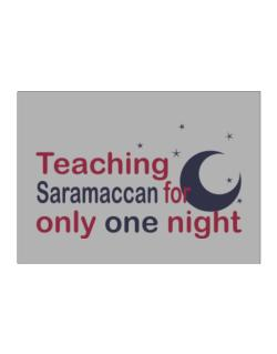 Teaching Saramaccan For Only One Night Sticker