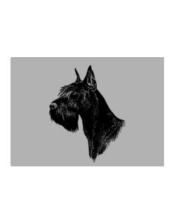 """ Schnauzer FACE SPECIAL GRAPHIC "" Sticker"