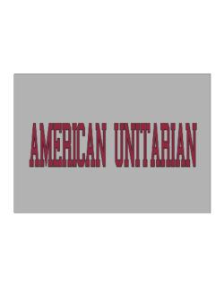 American Unitarian - Simple Athletic Sticker