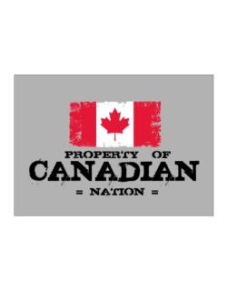 Property of Canadian Nation Sticker