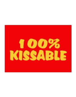 100% Kissable Sticker