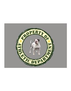 """ PROPERTY OF American Bulldog ATHLETIC DEPARTMENT TRANSFER "" Sticker"