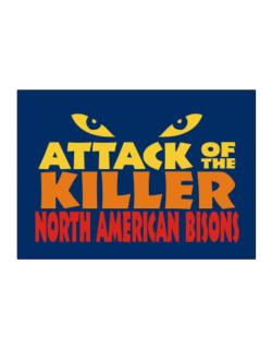 Attack Of The Killer North American Bisons Sticker