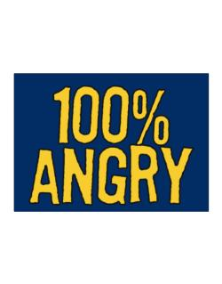 100% Angry Sticker