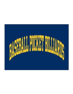 Baseball Pocket Billiards Athletic Dept Sticker