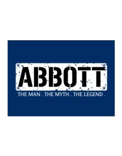 Abbott : The Man - The Myth - The Legend Sticker