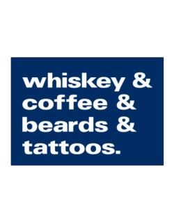 Whiskey coffee beards and tattoos Sticker
