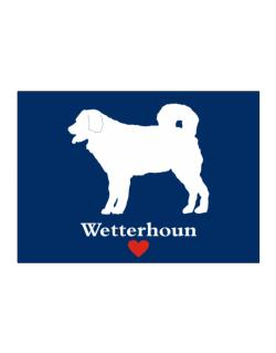 Wetterhoun love Sticker