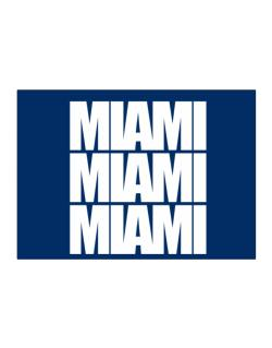 Miami three words Sticker