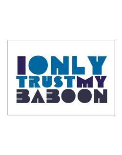 I Only Trust My Baboon Sticker