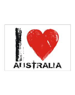 I Love Australia - Vintage Sticker