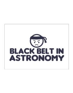 Black Belt In Astronomy Sticker