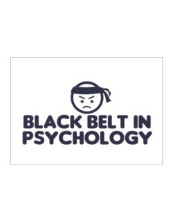 Black Belt In Psychology Sticker