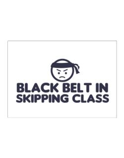 Black Belt In Skipping Class Sticker