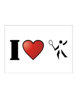 I Love Badminton - Silhouette Sticker