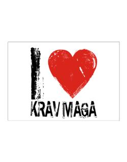 I Love Krav Maga Sticker