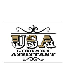 Usa Library Assistant Sticker