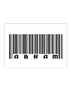 Bar Code Abram Sticker