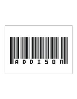 Bar Code Addison Sticker