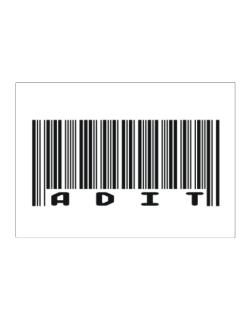Bar Code Adit Sticker