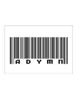 Bar Code Adymn Sticker