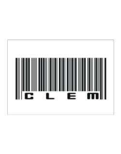 Bar Code Clem Sticker