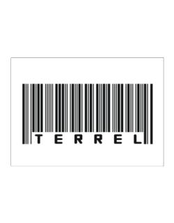 Bar Code Terrel Sticker