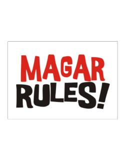 Magar Rules! Sticker