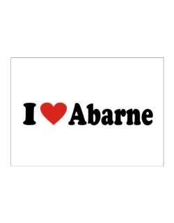 I Love Abarne Sticker