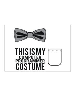 this is my Computer Programmer costume Sticker
