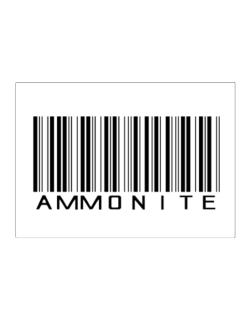 Ammonite Barcode Sticker