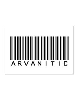 Arvanitic Barcode Sticker