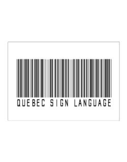 Quebec Sign Language Barcode Sticker