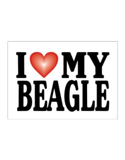 I Love Beagle Sticker