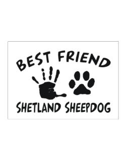 My Best Friend Is My Shetland Sheepdog Sticker