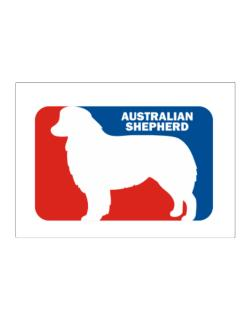Australian Shepherd Sports Logo Sticker