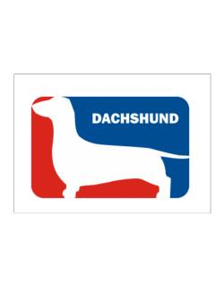 Dachshund Sports Logo Sticker