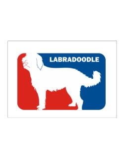 Labradoodle Sports Logo Sticker
