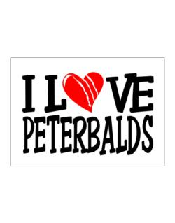I Love Peterbalds - Scratched Heart Sticker
