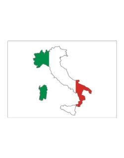 Map Of Italy Simple.Italy Country Map Color Simple Sticker