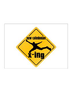 New Caledonian X-ing Sticker