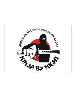 American Mission Anglican By Day, Ninja By Night Sticker
