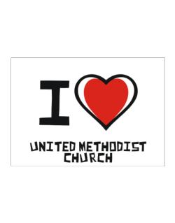I Love United Methodist Church Sticker