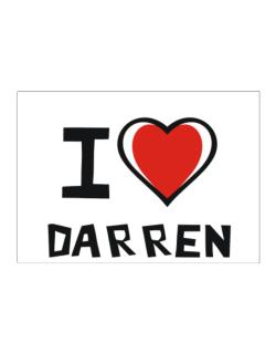 I Love Darren Sticker