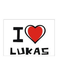 I Love Lukas Sticker