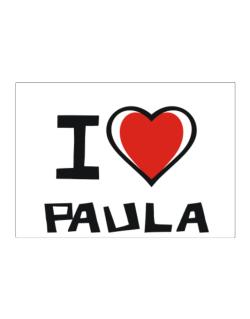 I Love Paula Sticker