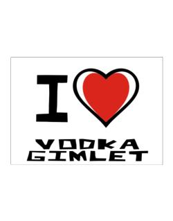 I Love Vodka Gimlet Sticker