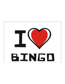 I Love Bingo Sticker