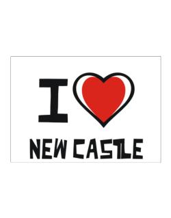 I Love New Castle Sticker