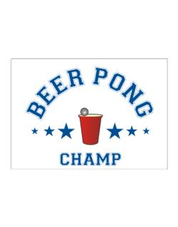 Beer Pong Champ Sticker
